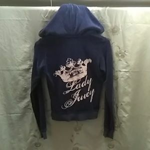 ❄️☃️ChillJuicy Couture Navy Velouer Jogging Hoodie